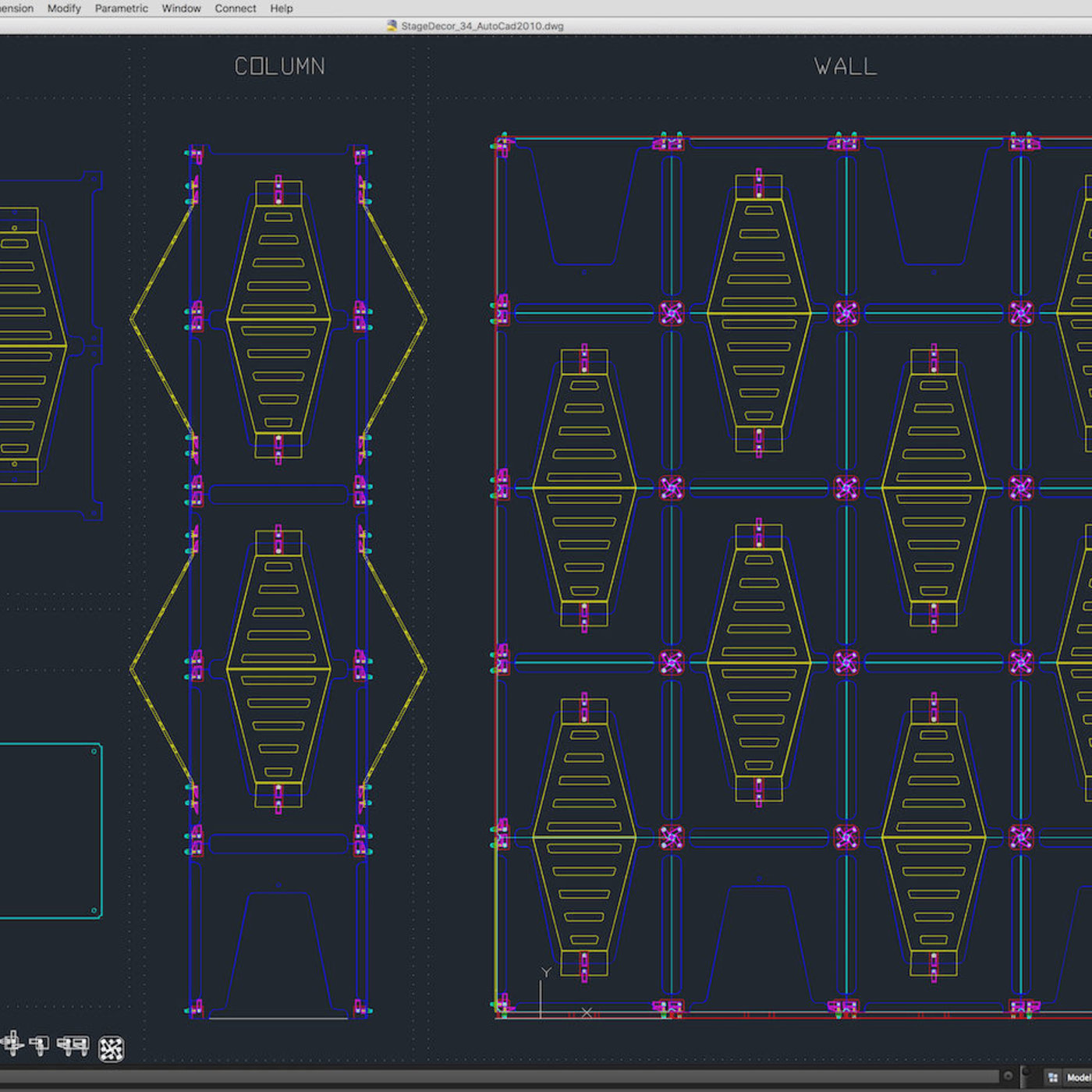 Stage Decor 34 Modular Wall Column