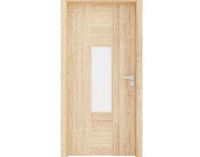 3D model wood Interior Door