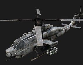 3D model AH1Z AH-1Z Zulu Cobra Attack Helicopter Siege