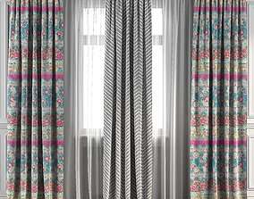 Curtain Set 92 3D model