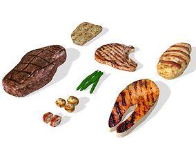 Grilled Food 3D model