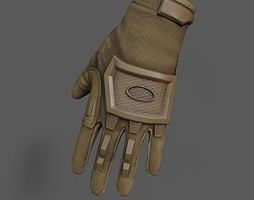 3D asset Scifi glove military low poly