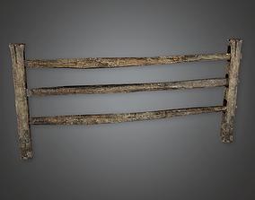Wooden Fence 31 GFS - PBR Game Ready 3D asset