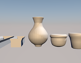 Collection of pots for plants and flowers 3D print model