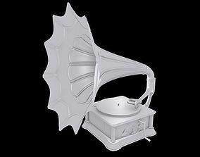 gramophone 3D model recorder