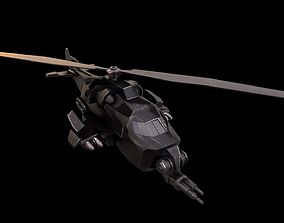 Helicopter 3d model VR / AR ready