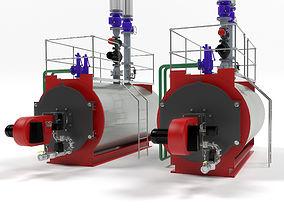 3D Bosch Unimat UT-L industrial boiler