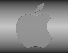 ipad Apple logo 3D model