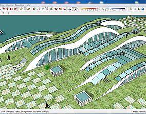 Sketchup Tourist Recreation Camp B1 3D model