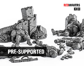 3D print model Alpha troops - Slain soldiers