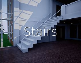 3D asset Stairs SHC Quick Office LM