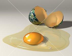 Easter egg 3D model food-and-drink