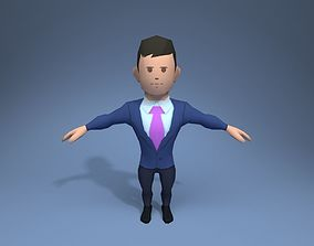 3D asset Office Worker