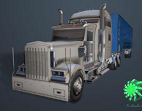 Truck trailer tractor vehicle 3D asset