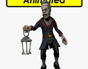 Zombie Butler 3D asset