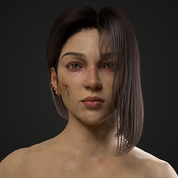 Photorealistic Warrior Girl
