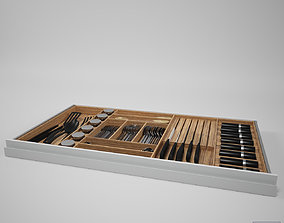 3D Drawer with Cutlery
