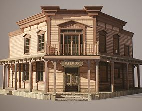 3D model realtime PBR Western Saloon