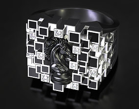3D print model Knights move enamel ring