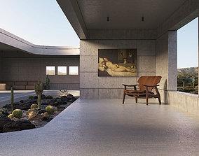 3D model Cement finish house