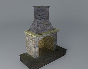 Compact Size Fireplace 3D model