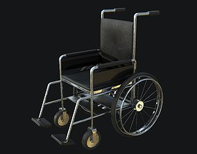 Wheelchair PBR Game Ready 3D model low-poly