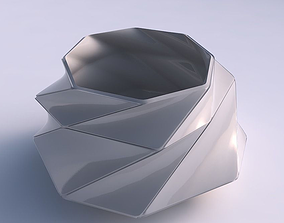 3D printable model Bowl twisted elipse with huge plates