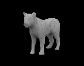 3D asset low-poly Low Poly Lion