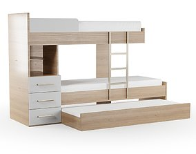 Bunk Bed 3D model bed