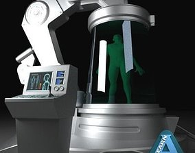 Futuristic Medical Device 3D