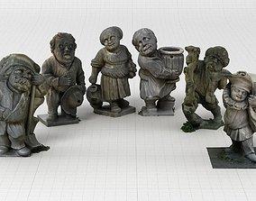 3D model women Dwarf Collection