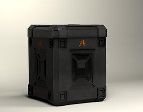 3D asset animated sci-fi box