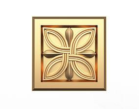 3D asset Rosette Carved Decoration CNC 023