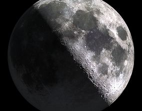 3D model Photo-Realism Moon 23400x11520