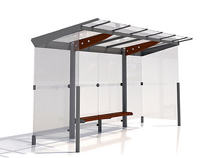 3D model MMCite Regio 310a Bus Shelter