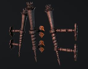 3D asset Medieval Torch