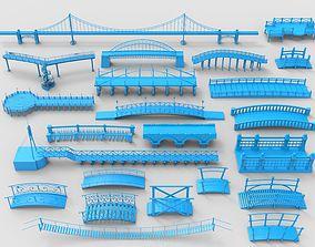 Bridges - 23 pieces 3D model