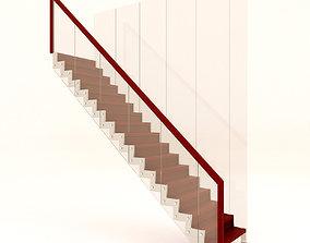 3D model modern staircase