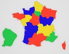 3D asset Map of France