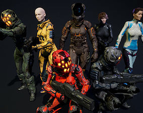 SciFi Unit Female 3D model
