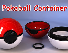 Pokeball container 3D print model