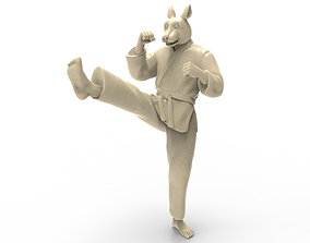 3D printable model Rabbit Front kick