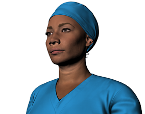 3D model nurse named Sophia