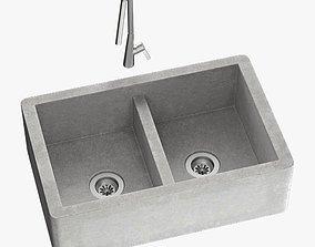 3D Sink Farmhouse Mixer Inox