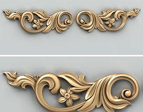 Carved decor horizontal 029 3D model