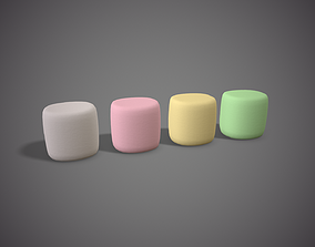 Colored Marshmallows 3D model