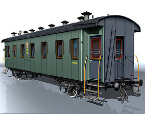 3D carriage passenger 2-axles train