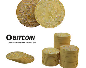 3D model Bitcoin set