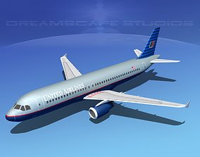 Airbus A320 LP United Airlines 1 3D model