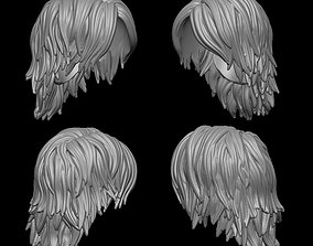 Hair for male and female 3D printable model